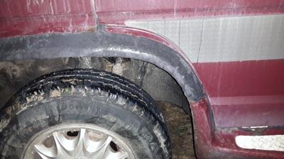 Заклееные резиной арки колес