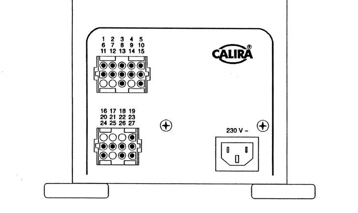 Разъемы и нумерация выводов электроблока EVS 12/12 a